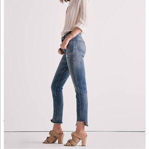 Lucky Brand High Rise Tomboy Jean w/ Side Step Hem